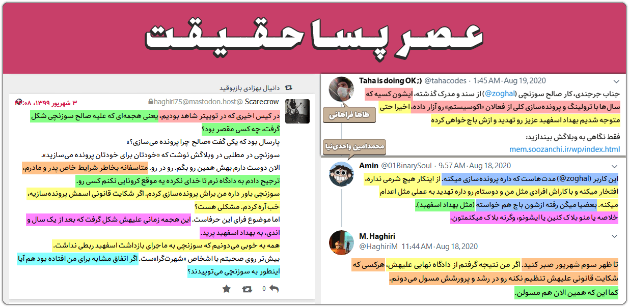 محمدرضا حقیری، طاها فراهانی، محمدامین واحدینیا